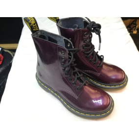 5b72fc112ed Botas Dr Martens Mujer Tacon - Zapatos Violeta oscuro en Mercado ...