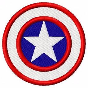 Escudo Capitão América 1 - Matriz De Bordado - Beldade