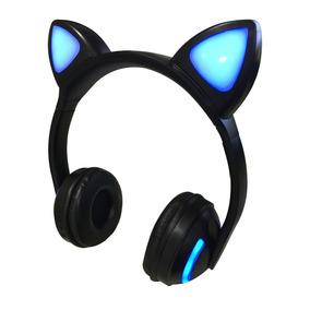 Fone De Ouvido Headphone Orelha De Gato Bluetooth P2 Led