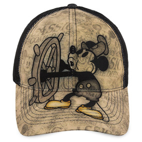Disney Store Gorra Mickey Mouse Willie Steamboat Clásica