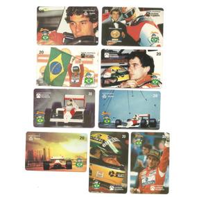 Lote Com 09 Cartões Telefônicos Ayrton Senna - Conforme Foto