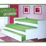 Cama 1 Plaza Brissio Nido Quadra 518 Melamina Verde Env **12
