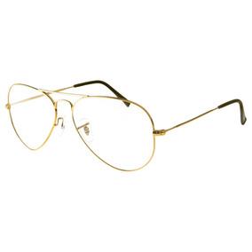 3a6ac12a848c1 Armação Para Óculos De Grau Aviador Ray Ban Frete Grátis - Óculos no ...