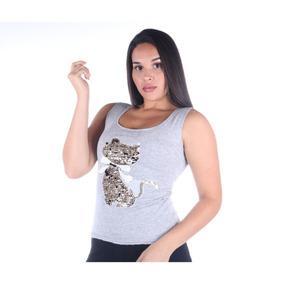 Regata Lantejoulas - Camisetas e Blusas no Mercado Livre Brasil 020dfa951f7