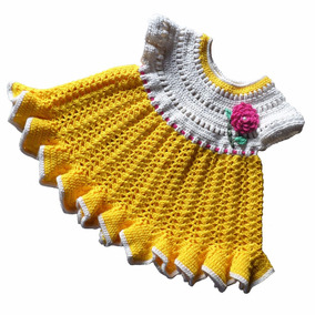 Vestidos Para Bebês Em Crochê - Vestidos de Bebê no Mercado Livre Brasil 631545579d