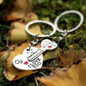 Chaveiro De Casal - Coração E Chave - Namorados Metade Amor
