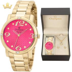 85458dd02a7 Relogio Rosa Metalico Super Moda Feminino Champion - Relógios De ...