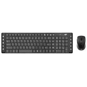 Kit Teclado C/ Mouse Sem Fio C3 Tech K-w50bk Preto