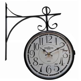 Relógio Parede Suspenso Dupla Face Estação Ferroviária - Relógios em ... 3dd5bca408
