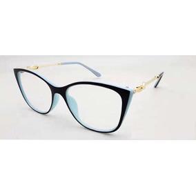 4ac1a62fd03c8 Óculos Armação De Grau Gatinho Redondo Feminino + Brinde