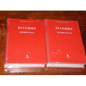 Euclides Elementos Dos Tomos Completo Gredos Nuevo Cerrado