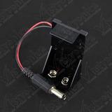 Porta Batería Cuadrada De 9v Con Conector Jack 2.1mm
