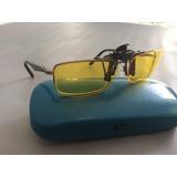 Clip Polarizado De Visão Noturna Para Óculos Tamanho M E G