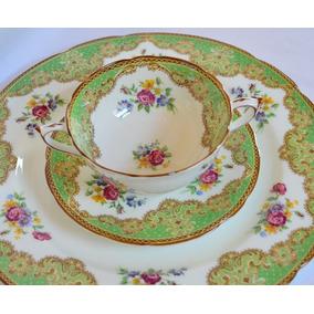 Consome C/plato Porcelana Paragon Honiton Reservas Verde