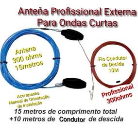 Antena Especial Para Rádio Escuta,varios Rádios Ondas Curtas