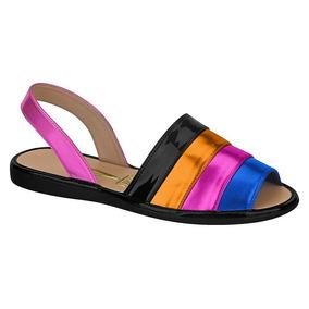 3a8ce9bfb Sandalia Rasteira Vizzano Metalizada - Sapatos no Mercado Livre Brasil