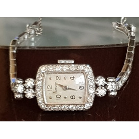 Reloj Vintage Hamilton Con Diamantes De Oro 14 Kt