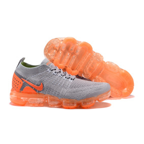 Tenis Vapormax Flyknit 2.0 Orange Gray