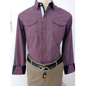 Camisa Vaquera Marca Cactus Color Vino