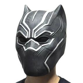 Máscara De Pantera Negra Puma Preto Látex - Pronta Entrega