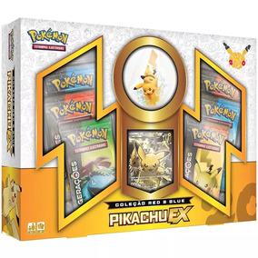 Pokémon Box 20 Anos Coleção Red & Blue Pikachu Ex Português