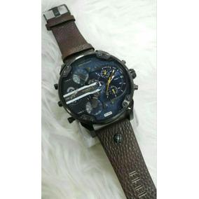 48d1da18fe7b Reloj Diesel Dz 1394 Pulso De Cuero Cafe 10 Bar - Reloj para Hombre ...