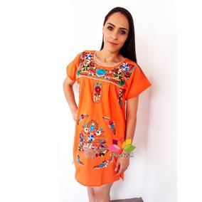 844219492a Vestido Dama Bordado Mexicano Artesanal Típico