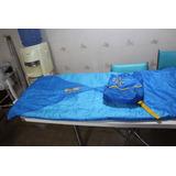 Saco De Dormir Infantil Azul Leão Com Ziper Bag Sacola