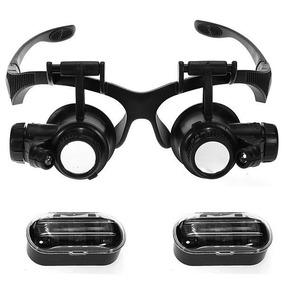 2 Lupa Cabeça Óculos 8 Lentes Aumento 2 Leds Para Ourives ebdecb1080