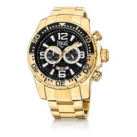 79fd213d98d Relógio Everlast Cronógrafo Caixa Aço Pulseira Aço Dou E652