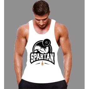Camisetas Regata Nadador Para Treino Em Academia Branca Lisa ... 08623383580