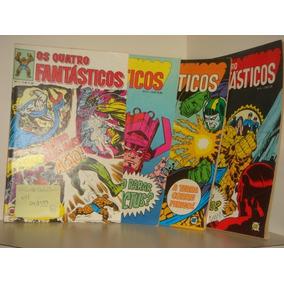 Os Quatro Fantásticos N°1, 2, 3 E 4 - Raras -1979.