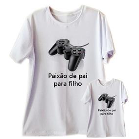 f33717a1ff Kit 2 Camiseta Dia Dos Pais Tal Pai Filho Filha Play Game