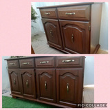 Muebles Vintage Finos 2 Piezas Caoba Trinchadores P Comedor