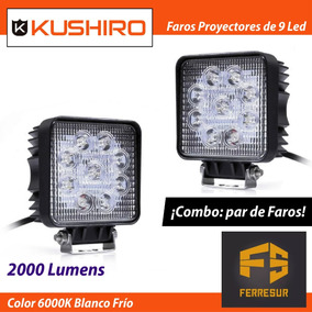 Faro Proyector De 9 Led 27 Watt Off Road Iluminacion X 2 Un
