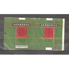 Saratoga Cigarrillos Marquilla Caja Antigua