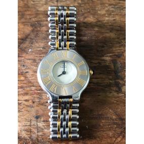 30ed0f75227 Relógio Cartier Must 21 Aço Ouro 100% Original Revisado Veja