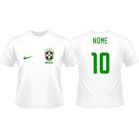 ed52a580db Kit 3 Camisas Personalizada Brasil Infantil Copa Do Mundo