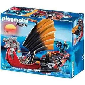 Playmobil Barco De Guerra Do Dragão 5481 Original