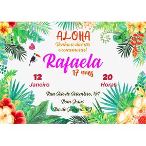 Convites Para Festa Tropical Convites No Mercado Livre Brasil