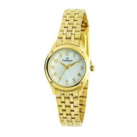 50bb60c6ffb Relogio Champion Feminino Dourado Classico - Relógios De Pulso no ...