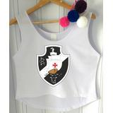 f7f593129e Camisa Cropped Vasco Da Gama Feminina Regata Blusinha Barato