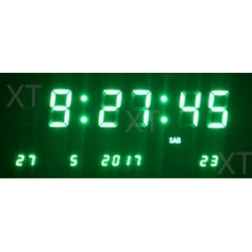 20c1499625c Relogio Digital Verde Parede - Relógios no Mercado Livre Brasil