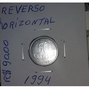 Moeda De 50 Centavos Reverso Horizontal - Ano 1994