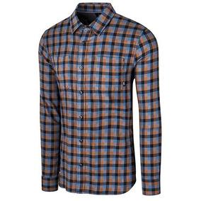 Camisas Vans Alameda Ii Vn-0a36hlo5v Azul Naranja Pv