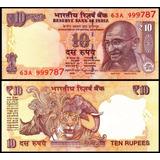 Billete 10 Rupias, India 2011 Unc P-102