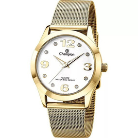 c621c541d64 Relógio Champion Dourado Mostrador Strass Cn29098h - Relógios no ...