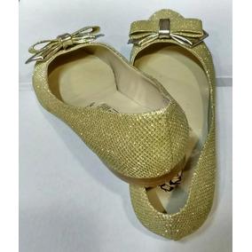 Zapatos Dorado Para Dama O Niña Únicos Pares Remate Oferta