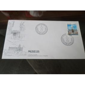 Envelope Antigo Com Selo Museus Primeiro Dia De Circulação