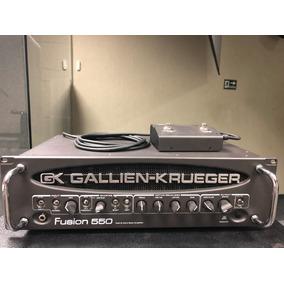 Amp Cabeçote Gallien Krueger Gk Fusion 550 Híbrido Valvulado